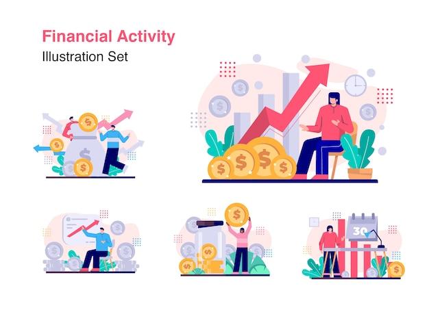 Ensemble de vecteur d'activité financière