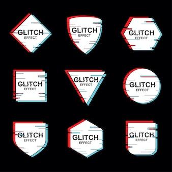 Ensemble de vecteur de cadre géométrique minimal avec effet glitch