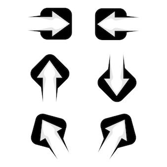 Ensemble de vecteur de conception de logo de flèche de logos