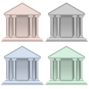Ensemble de vecteur de construction d'icônes de banque