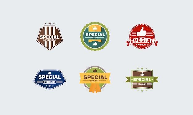 Ensemble de vecteur d'emblème de produit spécial badgeprecial product