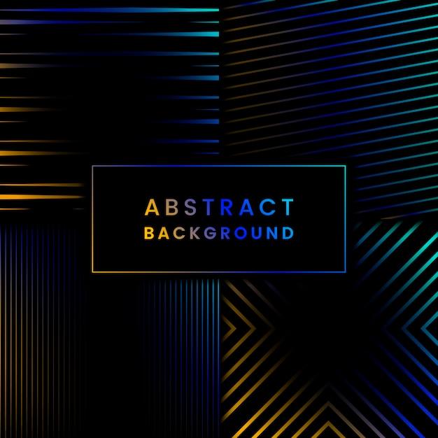 Ensemble de vecteur de fond abstrait bleu et jaune