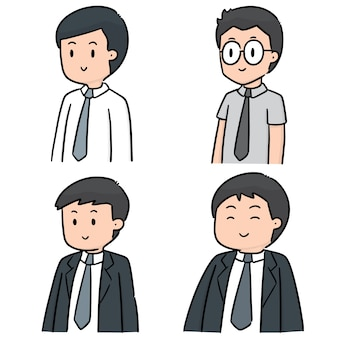 Ensemble de vecteur d'homme d'affaires