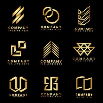 Ensemble de vecteur d'idées de conception logo société