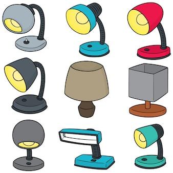 Ensemble de vecteur de lampe