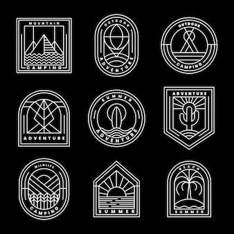 Ensemble de vecteur de logo d'aventure