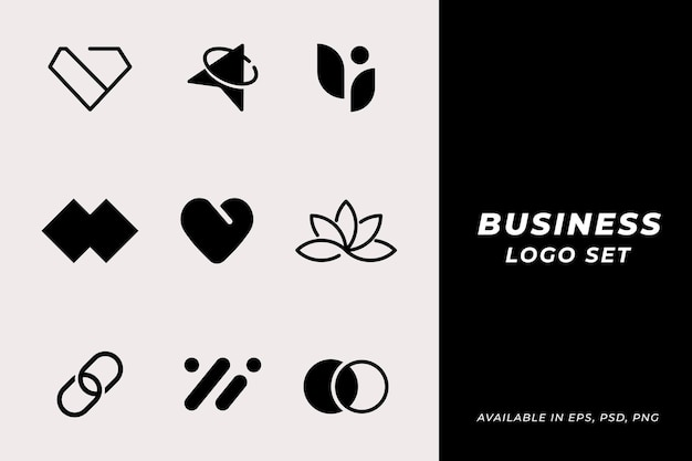 Ensemble de vecteur de logo d'entreprise classique moderne