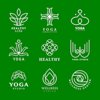 Ensemble de vecteur de logo d'yoga