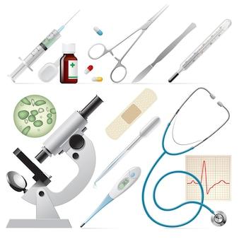 Ensemble De Vecteur De Médecine Vecteur Premium
