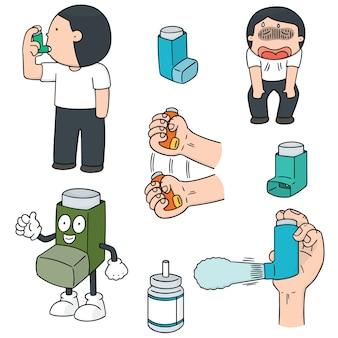 Ensemble de vecteur de médicaments par inhalation