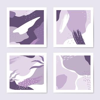 Ensemble de vecteur modèle de style violet memphis