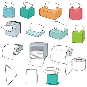 Ensemble de vecteur de papier de soie