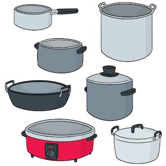 Ensemble de vecteur de pot