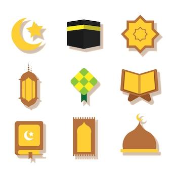 Ensemble de vecteur de ramadhan