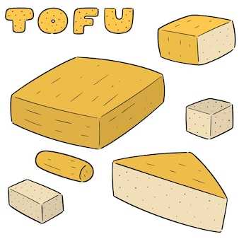 Ensemble de vecteur de tofu