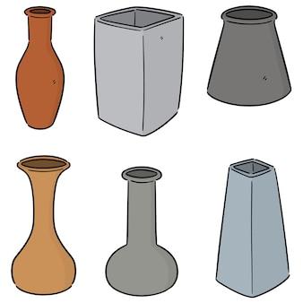 Ensemble de vecteur de vase