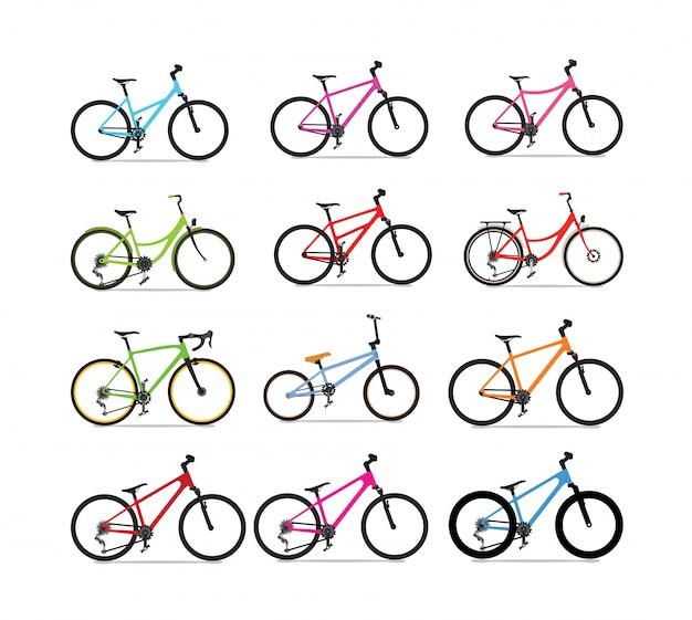 Ensemble de vecteur de vélo
