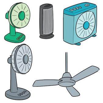 Ensemble de vecteur de ventilateur