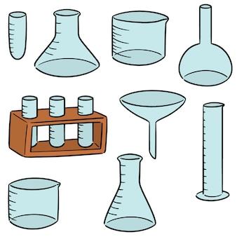 Ensemble de vecteur de verrerie de laboratoire