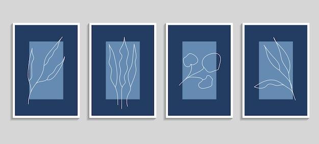 Ensemble de vecteurs d'affiches botaniques. conception de plantes pour l'impression