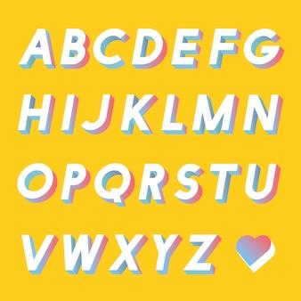 Ensemble de vecteurs alphabet