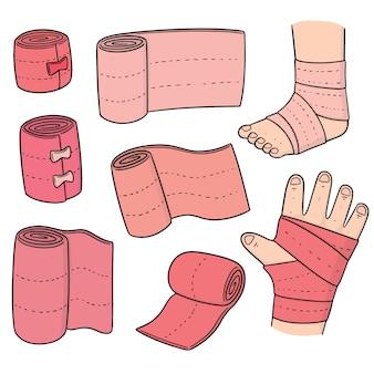 Ensemble de vecteurs de bandage médical