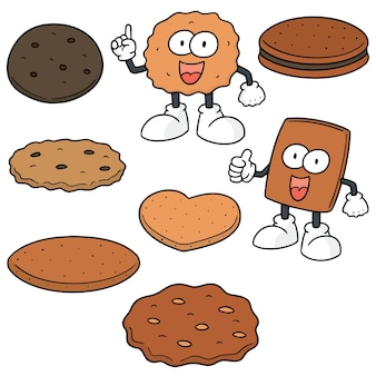 Ensemble de vecteurs de biscuits et biscuits