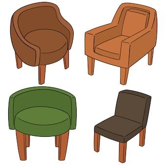 Ensemble de vecteurs de chaise