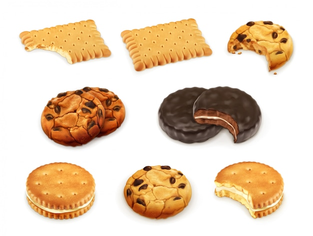 Ensemble de vecteurs de cookies