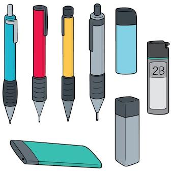 Ensemble de vecteurs de crayon mécanique