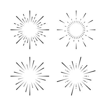 Ensemble de vecteurs d'explosion de feu d'artifice