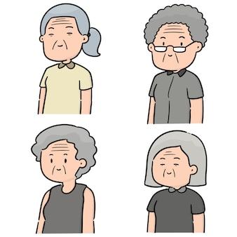 Ensemble de vecteurs de femmes âgées