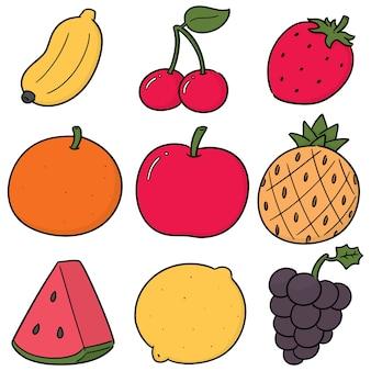 Ensemble de vecteurs de fruits