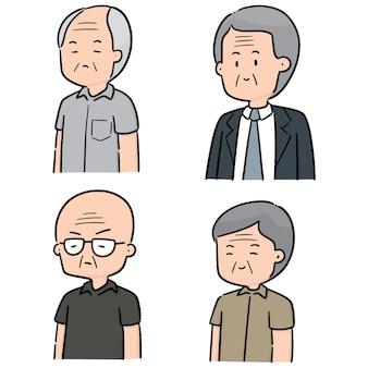 Ensemble de vecteurs d'hommes âgés
