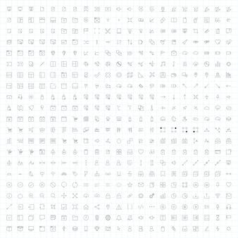 Ensemble de vecteurs d'icône ordinateur