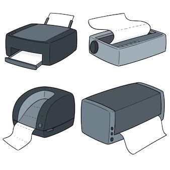 Ensemble de vecteurs d'imprimantes