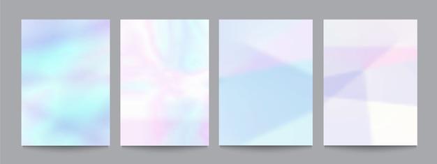 Ensemble de vecteurs de modèle avec des arrière-plans pastels douces