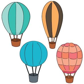Ensemble de vecteurs de montgolfière