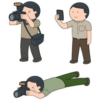 Ensemble de vecteurs de photographes