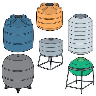 Ensemble de vecteurs de réservoirs de stockage de l'eau