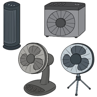 Ensemble de vecteurs de ventilateur