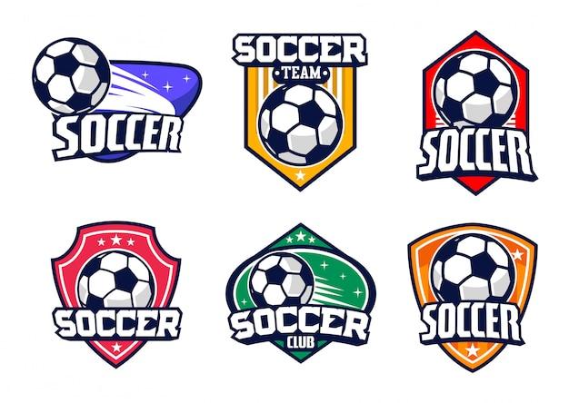 Ensemble de vector badge football