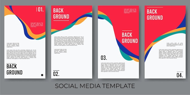 Ensemble vectoriel d'arrière-plans créatifs abstraits dans un style branché minimal avec espace de copie pour le texte
