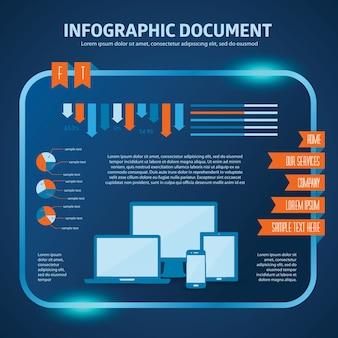 Ensemble vectoriel d'éléments infographiques pour vos documents