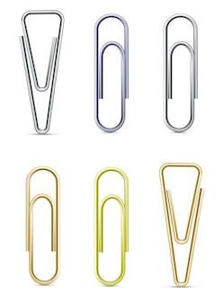 Ensemble vectoriel de trombones - argent, laiton et or