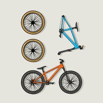 Ensemble de vélos