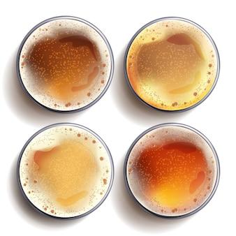 Ensemble de verre à bière artisanale