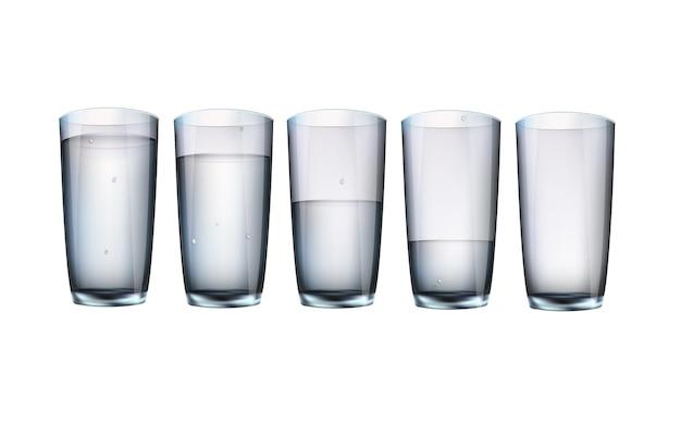 Ensemble de verres à boissons.