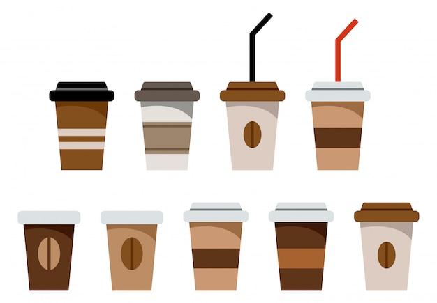 Ensemble de verres en papier pour le café