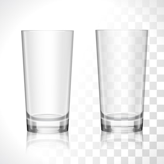 Ensemble de verres vide